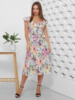 Платье в цветочный принт | 5491907