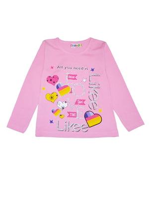 Реглан рожевий з малюнком | 5495280