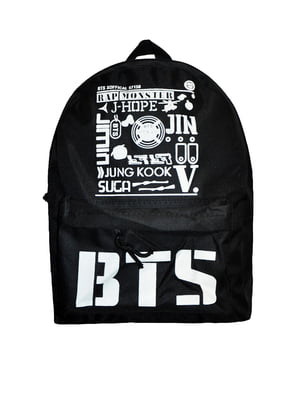 Рюкзак черный с логотипом и надписями | 5495294