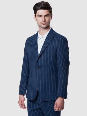Пиджак синий в полоску | 5495316