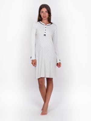 Сукня біла в горох | 5495462