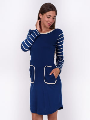 Сукня синя в смужку | 5495466
