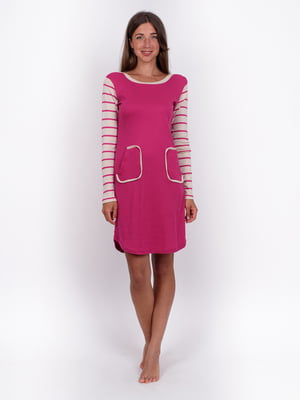 Сукня малинового кольору в смужку | 5495467
