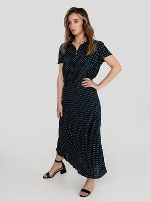 Платье синее в горох | 5496559