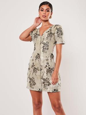 Сукня комбінованого кольору з принтом | 5496413