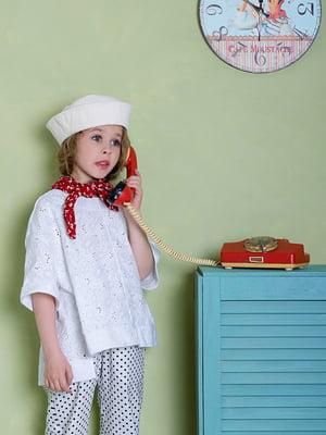 Блуза біла з візерунком | 5496818