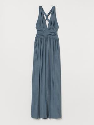 Платье серо-бирюзовое   5497304