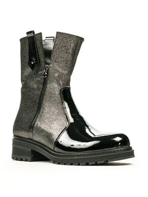Ботинки черно-стального цвета | 5489704