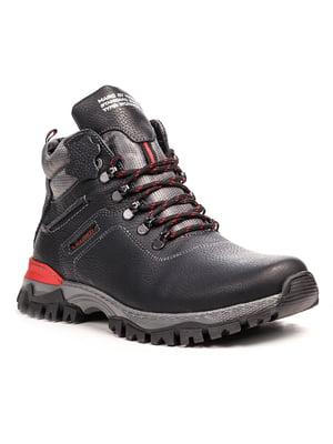 Ботинки черно-красные | 5489751