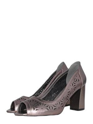 Туфлі бронзового кольору з візерунком   5491889