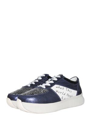 Кросівки сині з принтом | 5497380