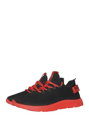 Кросівки чорно-червоні | 5495604