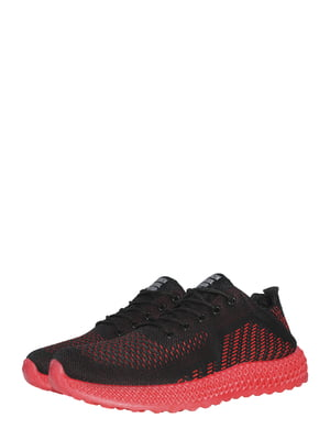 Кросівки чорно-червоні | 5495605