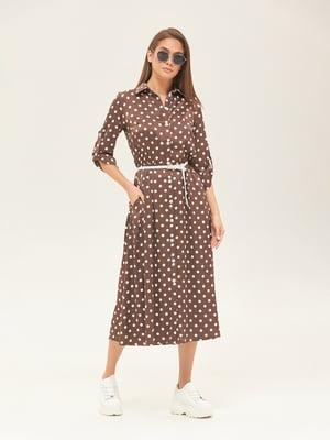 Платье цвета шоколада в горошек | 5497511