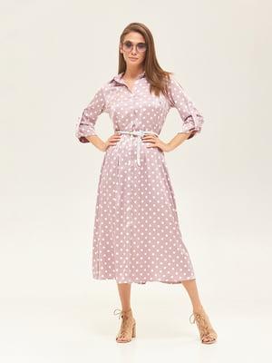 Платье розовое в горошек   5497515