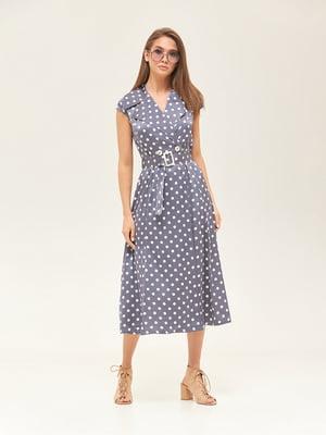 Сукня синя у горошок | 5497517