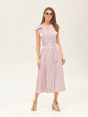 Платье розовое в горошек | 5497518