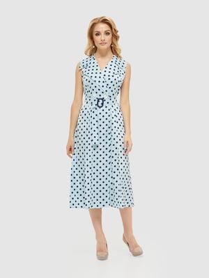 Сукня блакитна у горошок | 5497520