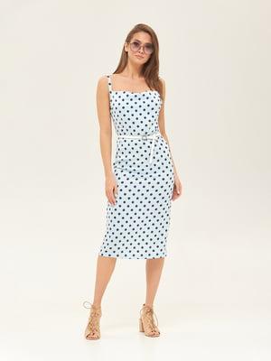 Сукня блакитна у горошок | 5497531