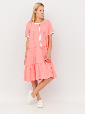 Платье ярко кораллового цвета | 5497873