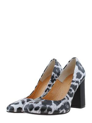 Туфлі чорно-білі | 5485385