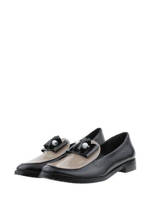 Туфлі чорно-бежеві | 5485451