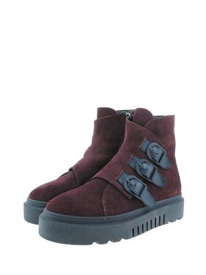 Ботинки бордовые | 5498382