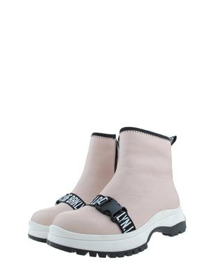 Ботинки пудрового цвета | 5498390