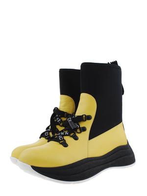 Ботинки желто-черные | 5498409
