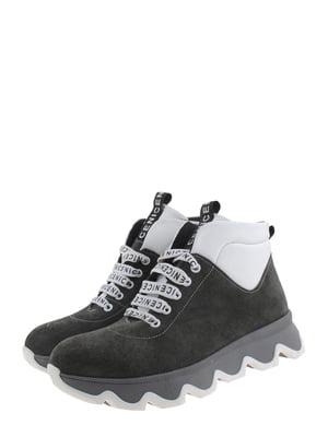Ботинки серо-белые | 5498643