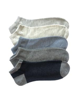 Набір чоловічих носків слідів (5 пар) | 5499232