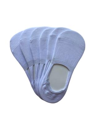 Набор белых женских носков следы (6 пар) | 5499237
