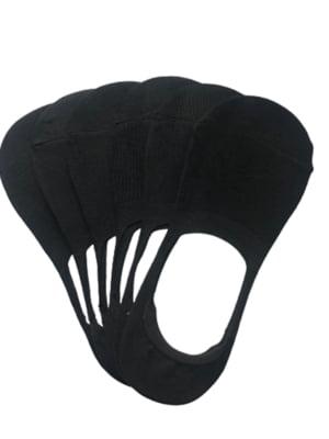 Набор черных женских носков следы (6 пар) | 5499238