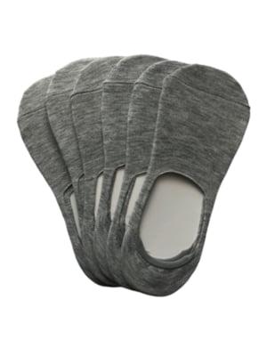 Набор серых женских носков следы (6 пар) | 5499239