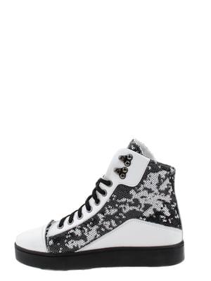Ботинки черно-белые | 5498516