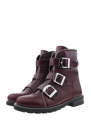 Ботинки бордовые | 5498449