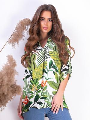 Блуза різнокольорова | 5499615
