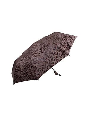 Зонт-автомат коричневый   5499285