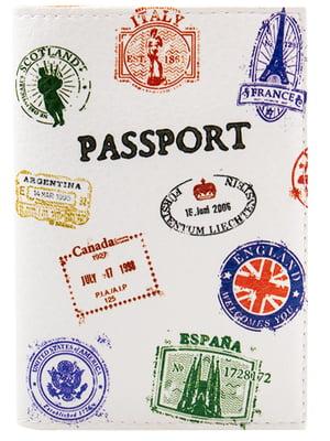Обложка для паспорта белая с принтом   5499367