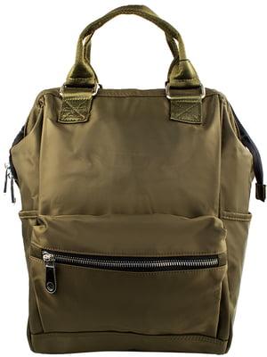 Сумка-рюкзак зеленая | 5499384