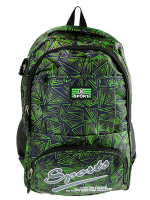 Рюкзак зелено-черный | 5499400