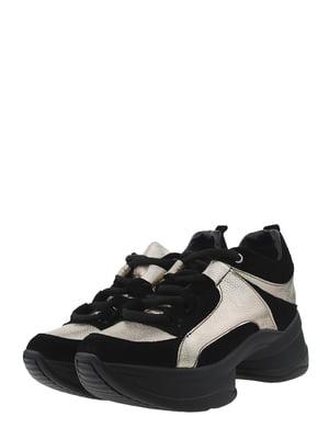 Кросівки чорно-золотистого кольору | 5485519