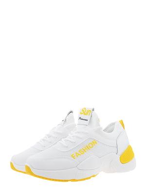 Кроссовки бело-желтые | 5488728
