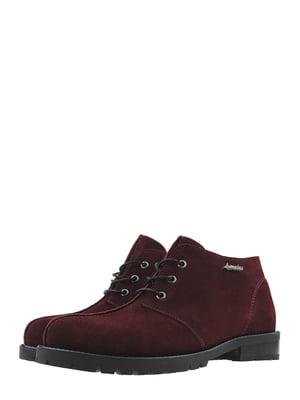 Ботинки бордовые | 5498275