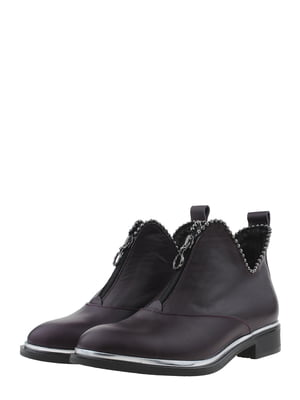 Ботинки баклажанного цвета   5498202
