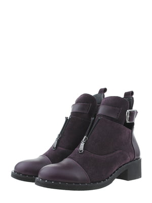 Ботинки баклажанного цвета   5498210