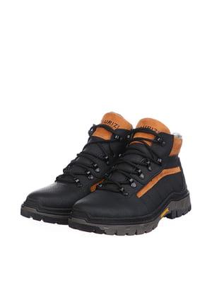 Ботинки черно-рыжые | 5498184