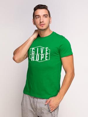 Футболка зеленая | 5500082