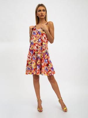 Платье в цветочный принт | 5501003