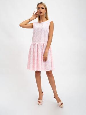 Платье розовое в принт | 5501010